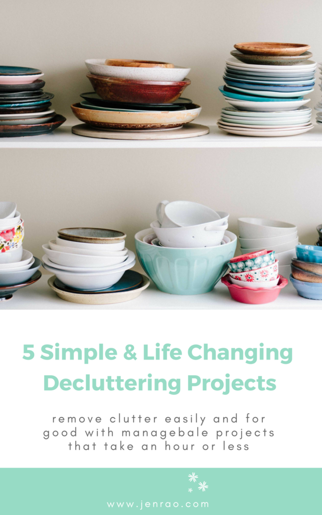5 Simple Life Changing Decluttering Projects