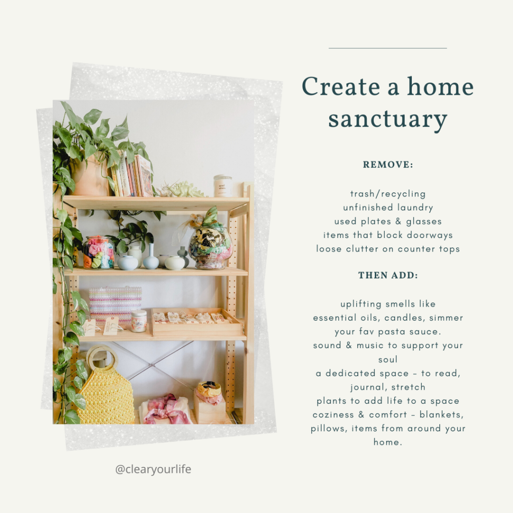suggestions on how to create a home sanctuary